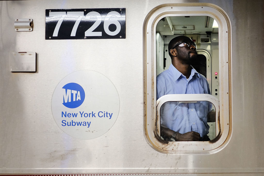 A Metropolitan Transportation Authority (MTA) subway conducto