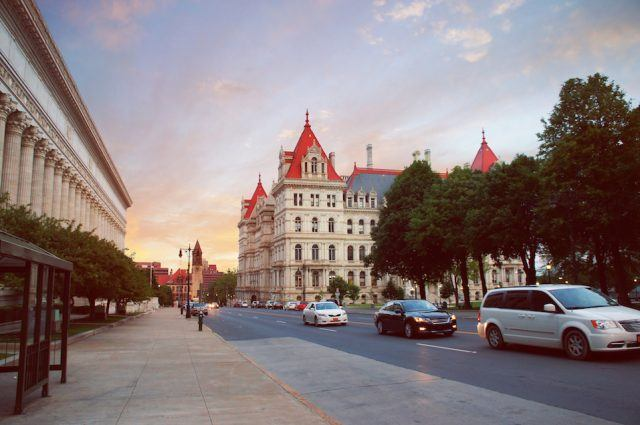 New York State Capitol in Albany, New York state capital