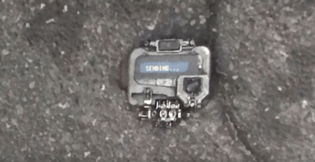 The pager seen on the sidewalk.