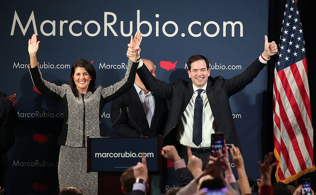 GOP Presidential Candidate Marco Rubio Holds SC Primary Night Gathering