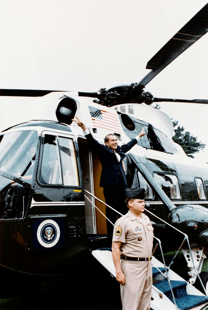 Nixon left the White House