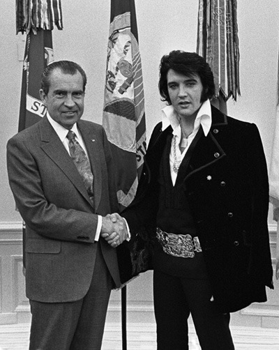 Nixon with Elvis Presley