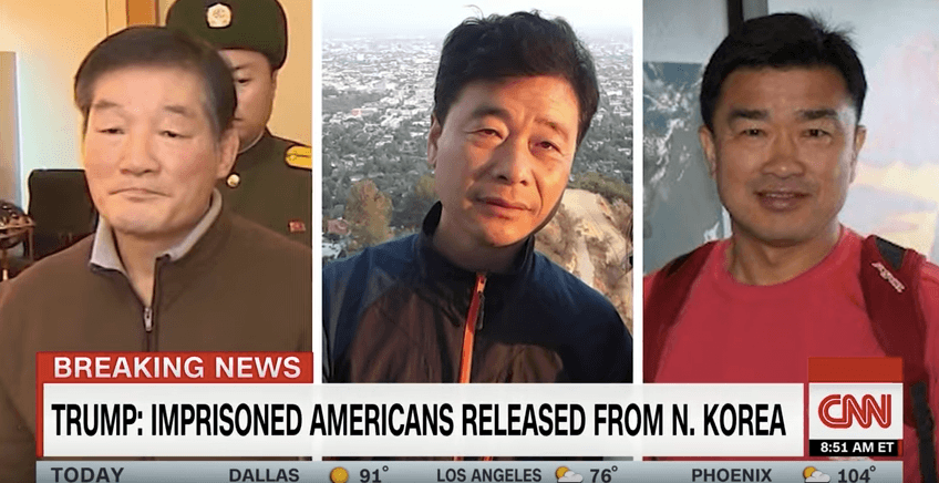 Three imprisoned Americans released from North Korea on May 9, 2018