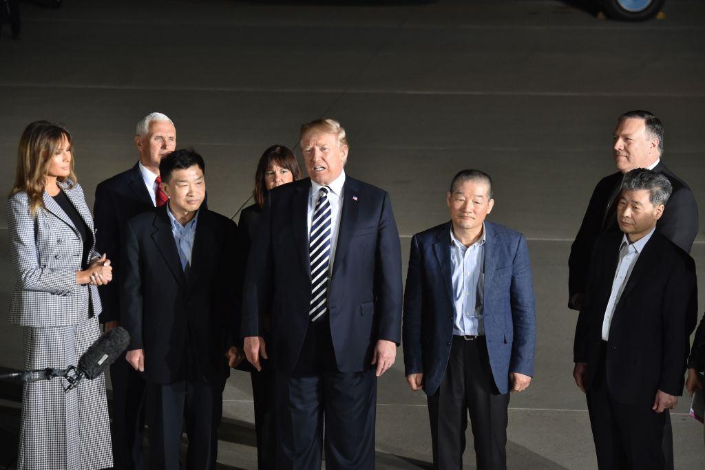 North Korea prisoners with donald Trump