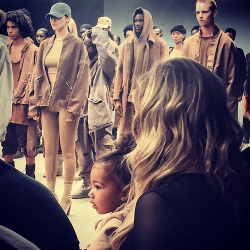 North West at a fashion show.