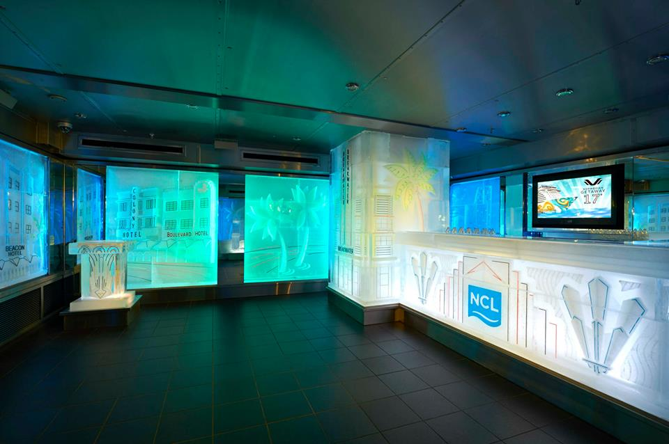 Norwegian cruise line ice bar