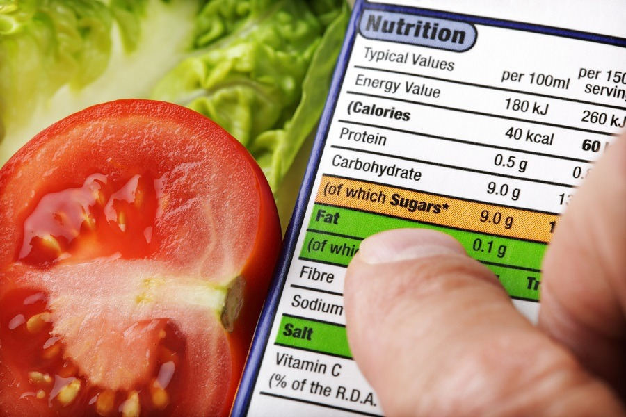 Reading a nutrition label