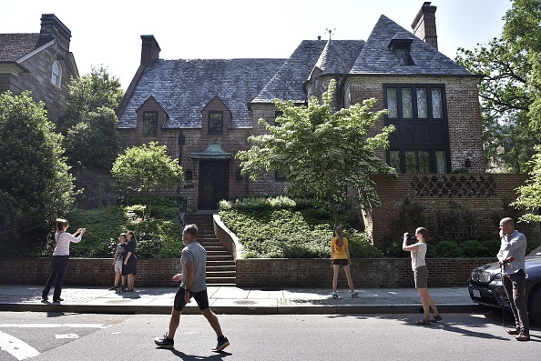 Obama's house in the Kalorama neighbourhood in Washington, D.C.