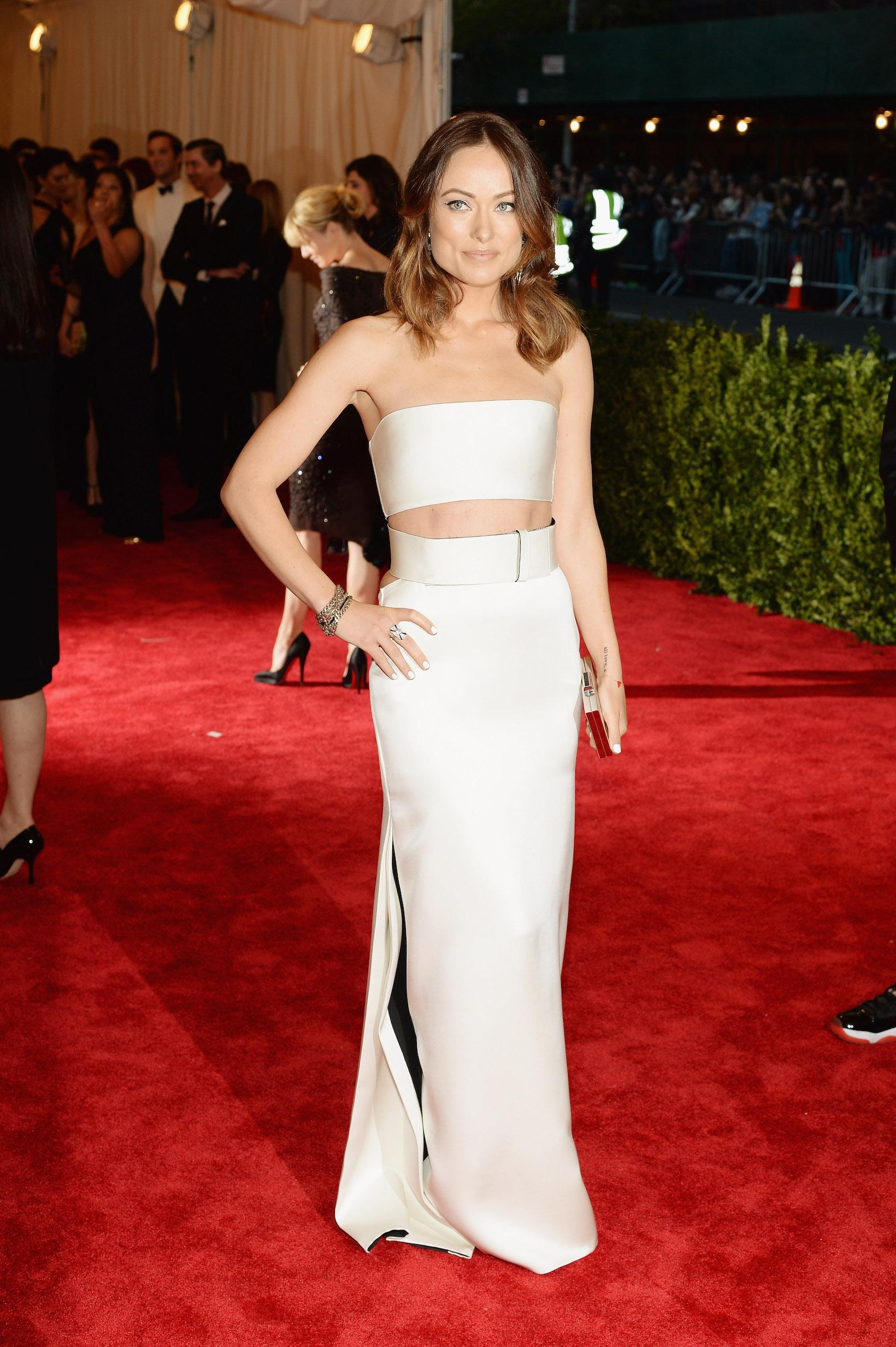 """Olivia Wilde at Met Gala """"PUNK: Chaos To Couture"""" Costume Institute Gala"""