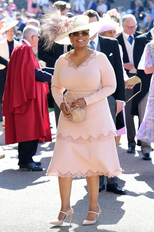 Oprah Winfrey at the royal wedding.