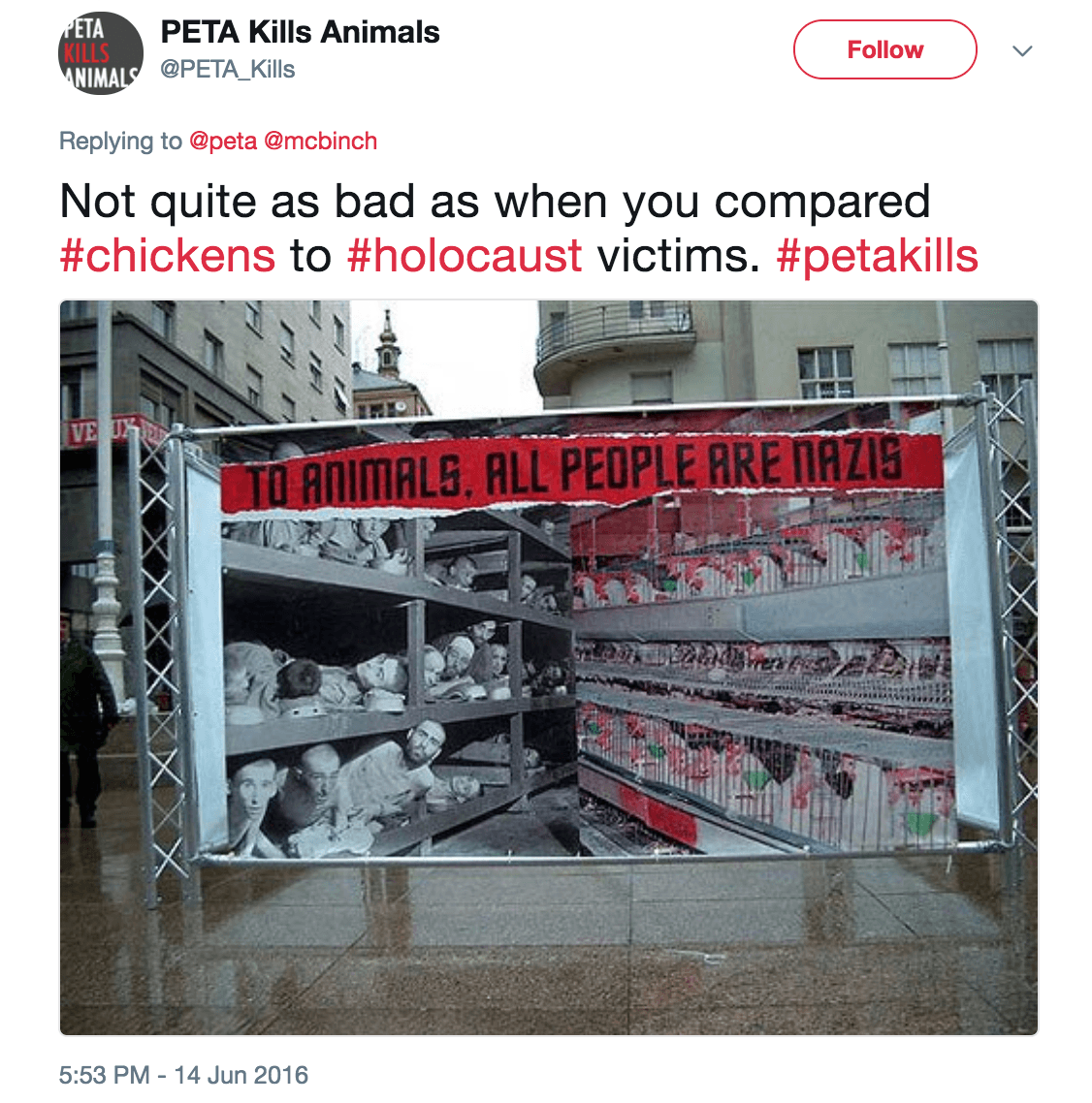 PETA chicken holocaust ad