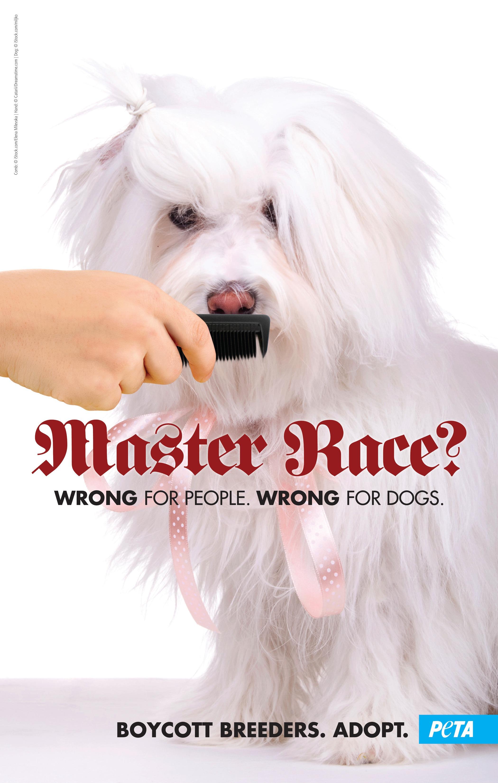 PETA master race poster