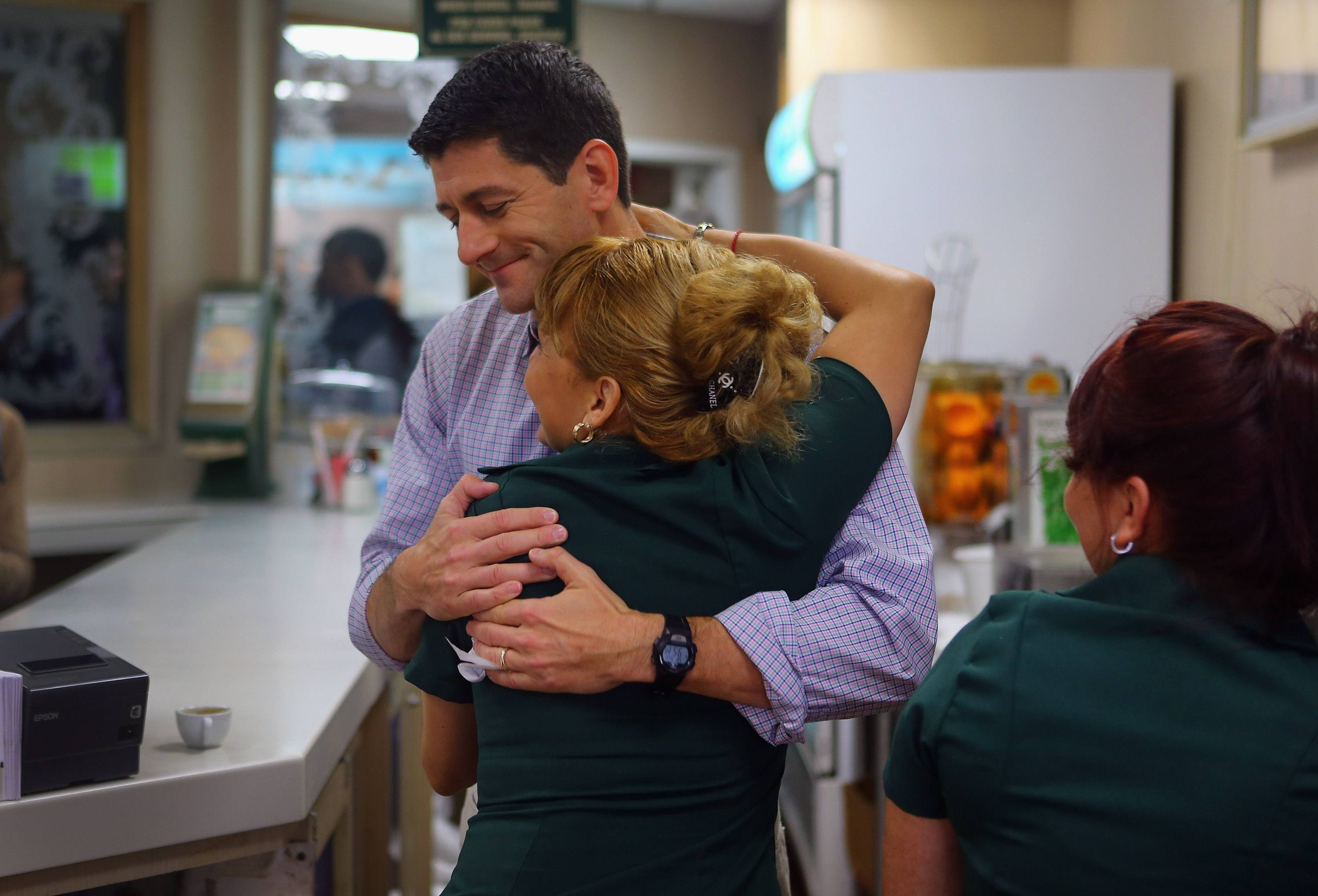 Paul Ryan Holds Rally at Versailles Restaurant In Miami