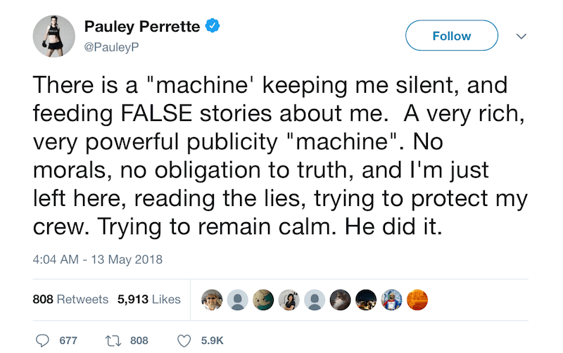 Pauley Perrette tweet