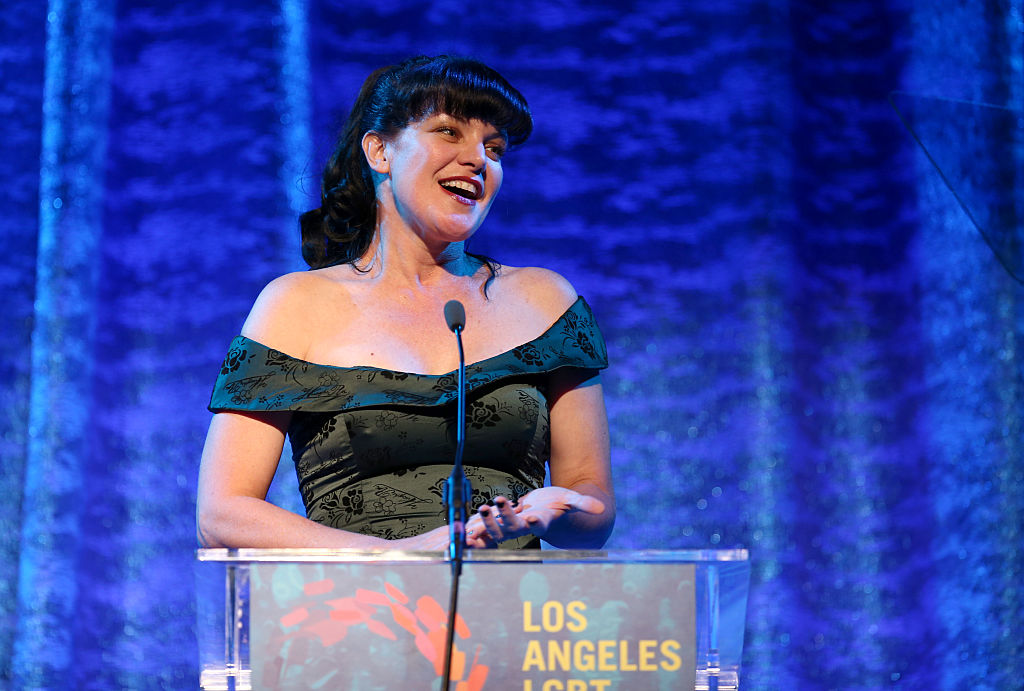 Actress Pauley Perrette speaks onstage during the Los Angeles LGBT Center 47th Anniversary Gala