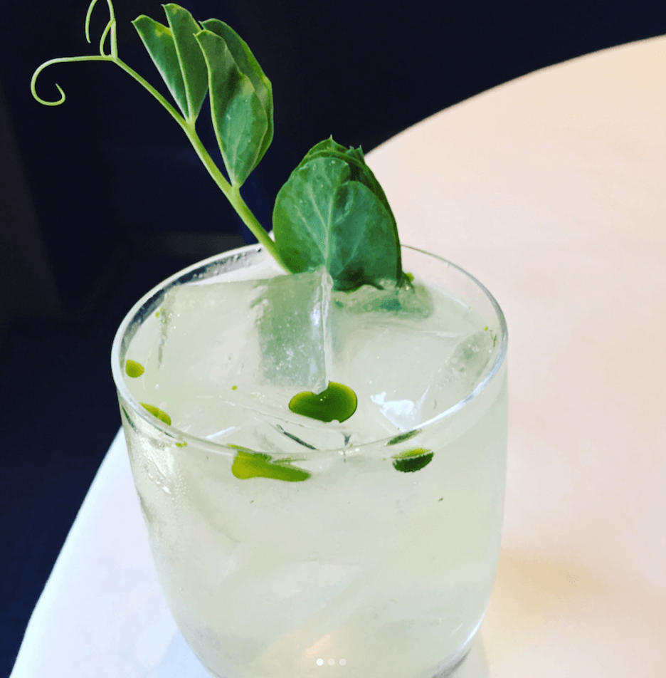 Pea shoot cocktail