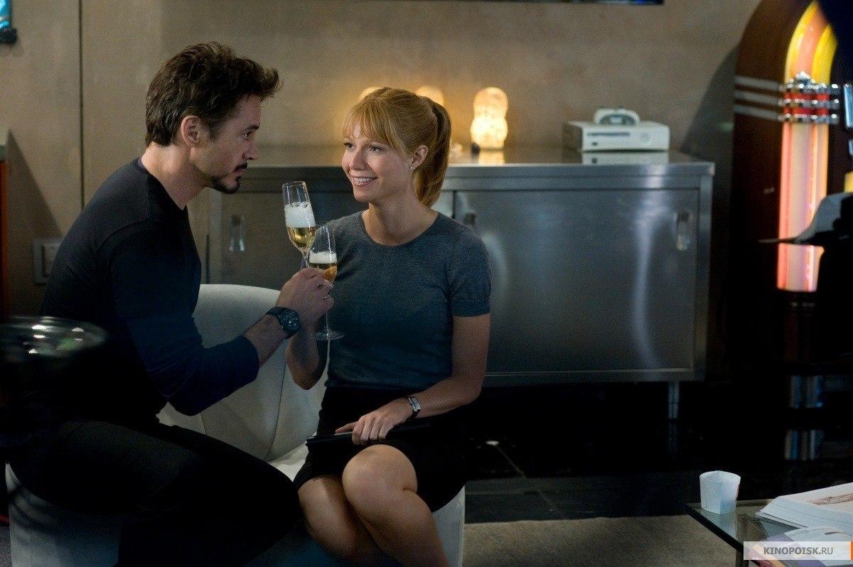 Pepper Potts and Tony Stark Iron Man