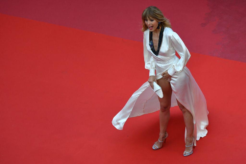 Petra Nemcova wardrobe malfunction Cannes