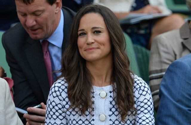 Pippa Middleton (C) sister of Britain's Catherine Duchess of Cambridge