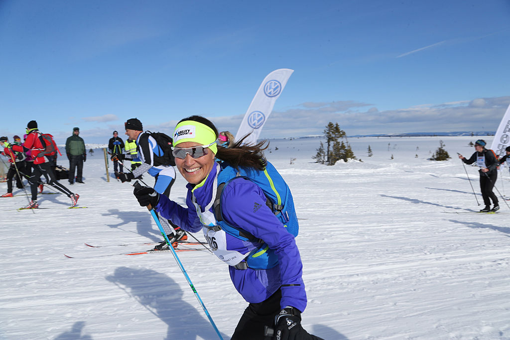 Pippa Middleton cross-country skis.