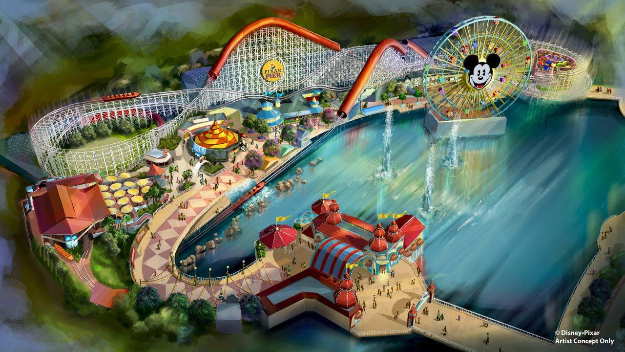 Disney's Pixar pier artist rendering