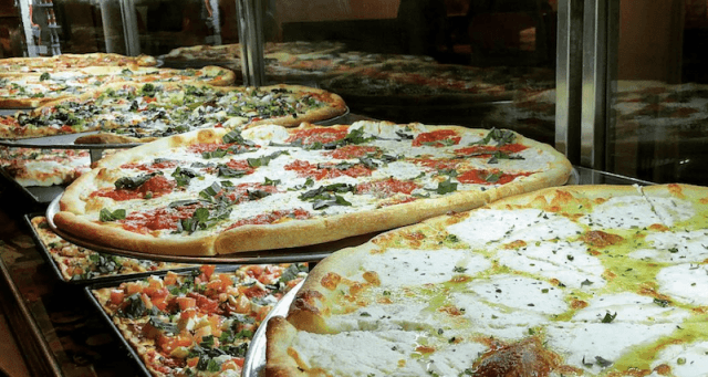 Pizzas being sold at Peter Piper Pizza.