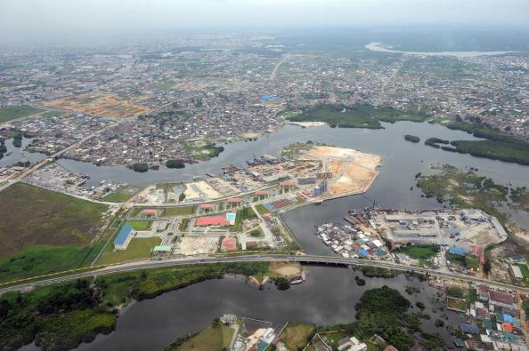 aerial view of Port Harcourt, Nigeria
