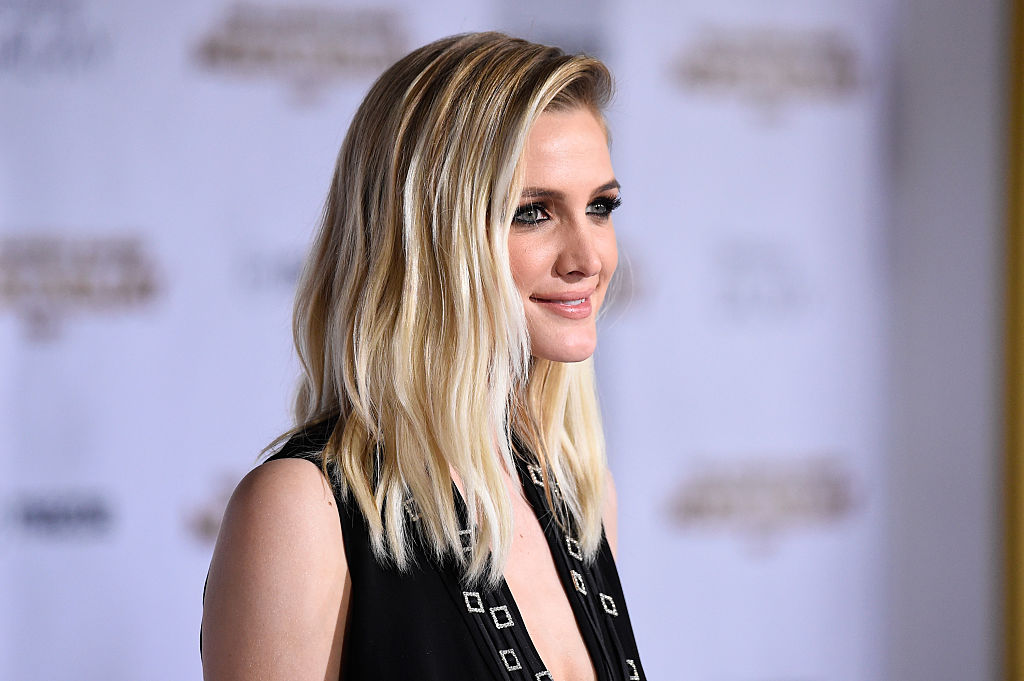 "Singer Ashlee Simpson attends the premiere of Lionsgate's ""The Hunger Games"