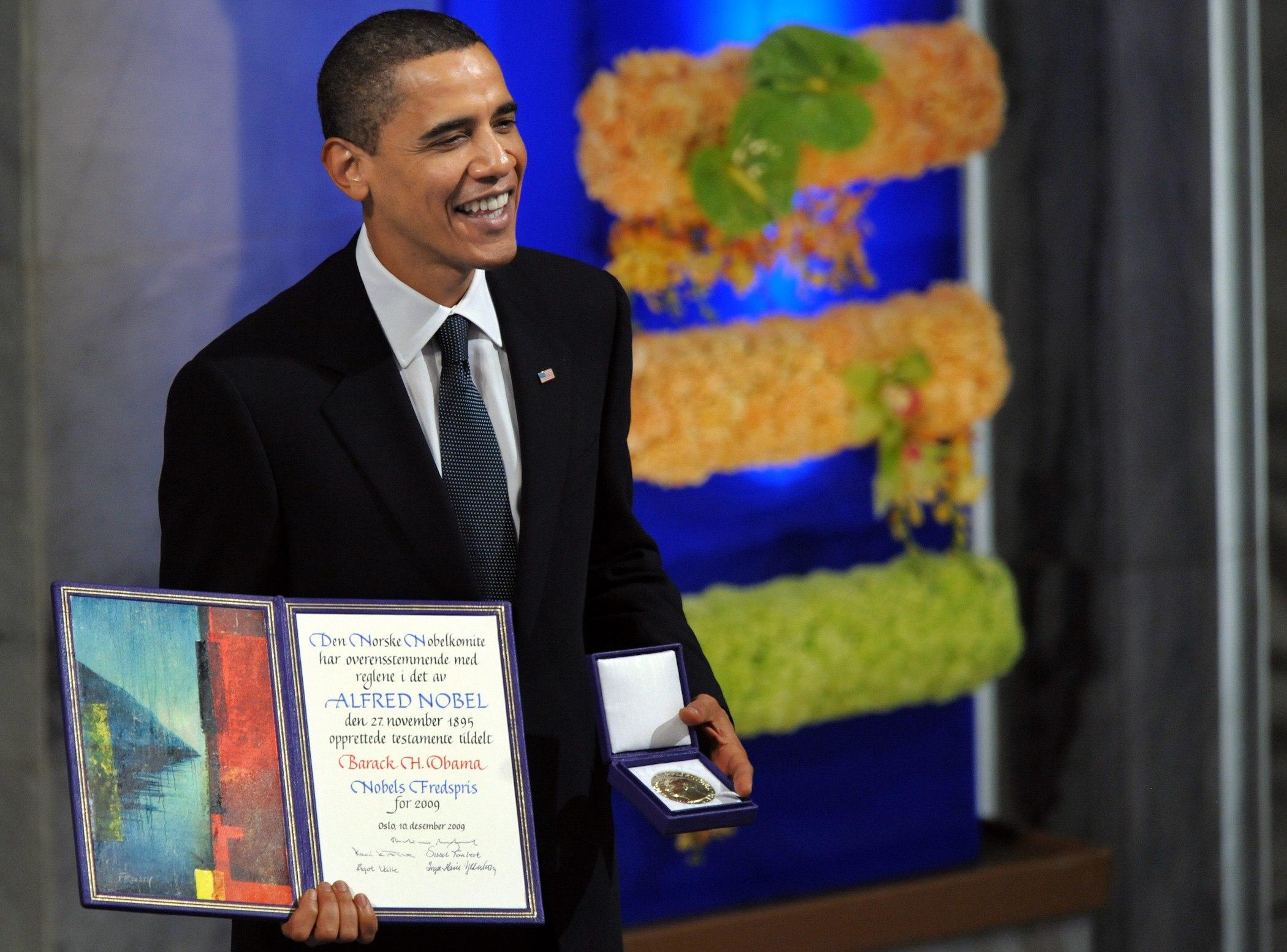 Nobel Peace Prize laureate, US President Barack Obama