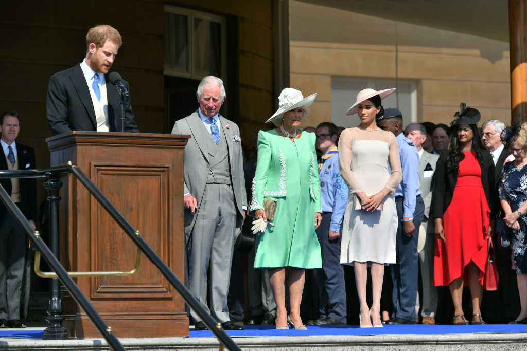 Harry, Meghan, Camilla and Charles at The Prince Of Wales' 70th Birthday Patronage Celebration