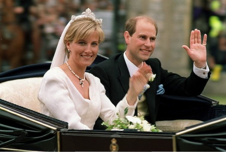 The newly-wed British royal couple Prince Edward (