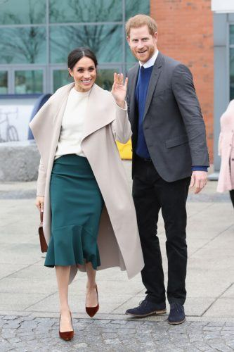 Prince Harry and Meghan Markle depart from Catalyst Inc, Northern Ireland's next generation science park