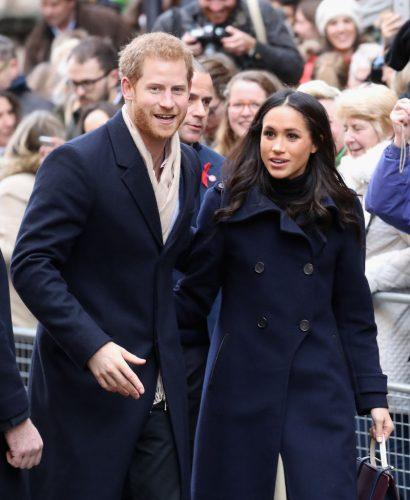 Prince Harry and Meghan Markle attends the Terrance Higgins Trust World AIDS Day charity fair at Nottingham Contemporary