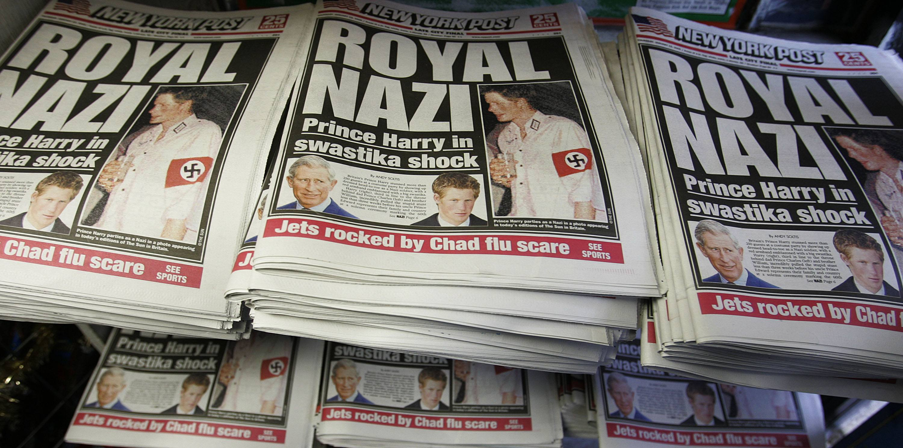 Prince Harry Wears A Nazi Uniform To Party