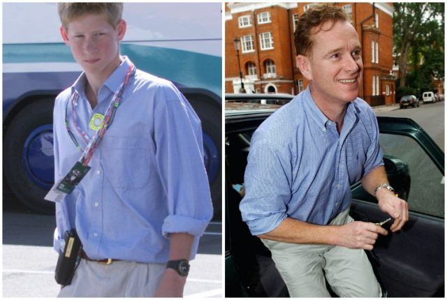 Prince Harry and Major James Hewitt collage.