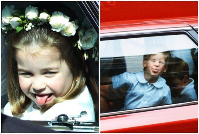 Prince Harry and Princess Charlotte collage.