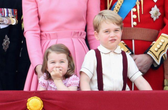 Princess Charlotte with the royal family.