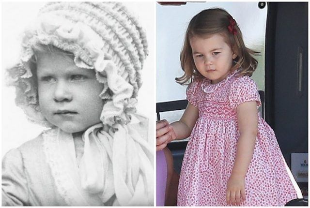 Princess Elizabeth and Baby Princess Charlotte collage.