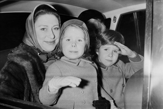 Princess Margaret with David and Sarah