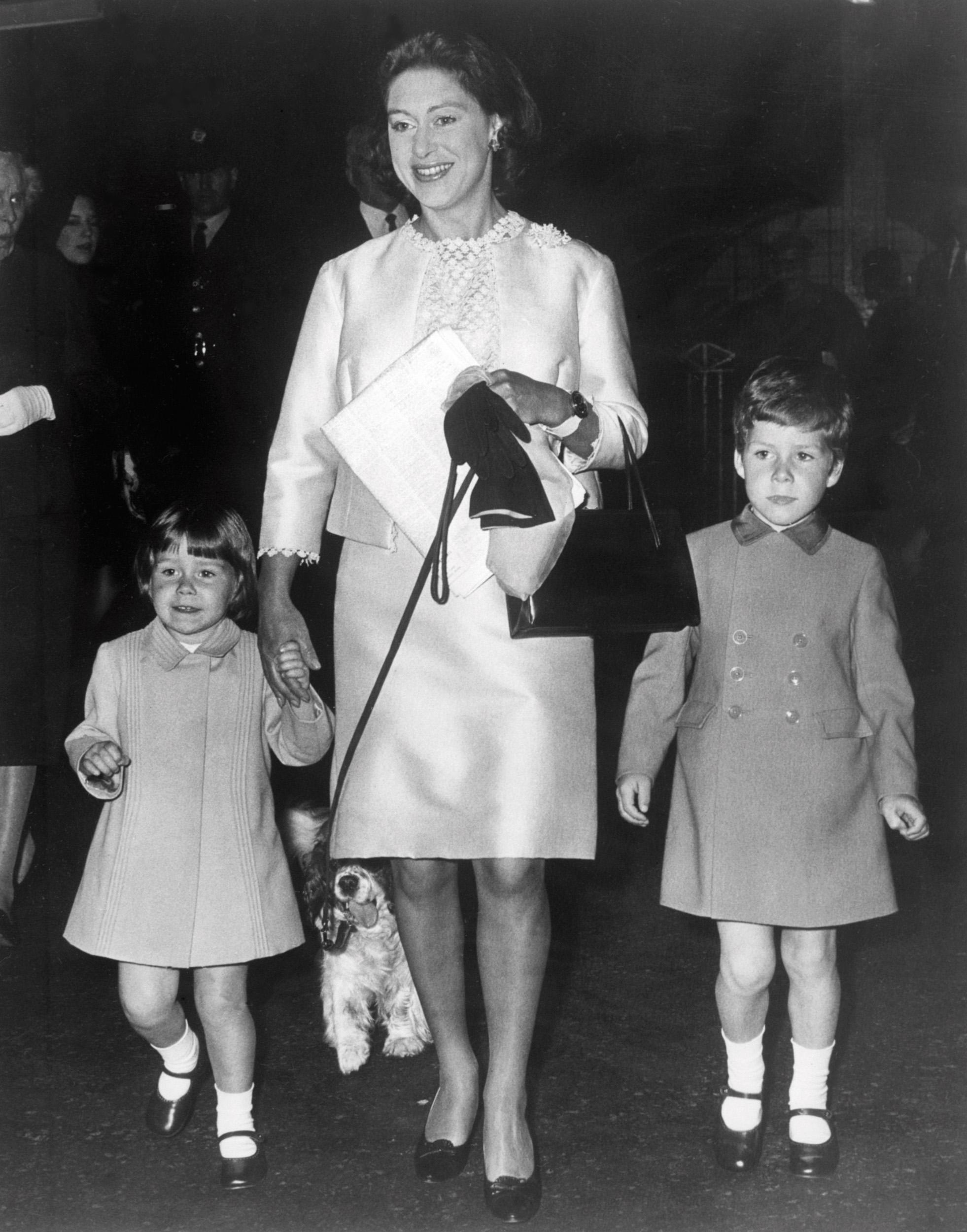 Princess Margaret with her children
