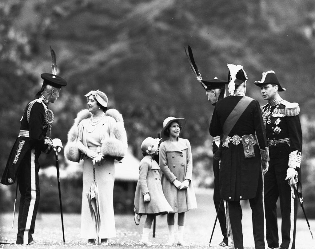 King George, Queen Elizabeth the Queen Mother, Princess Margaret, Princess Elizabeth and King George VI