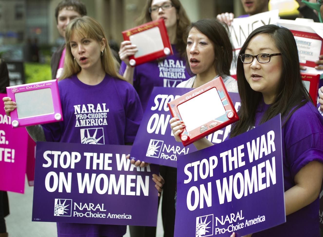 NARAL pro-choice protestors