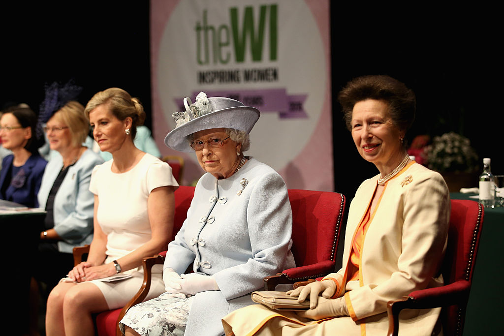 Sophie, Countess of Wessex, Princess Anne, Princess Royal and Queen Elizabeth II attend the Centenary Annual Meeting