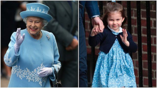Queen Elizabeth And Princess Charlotte Collage