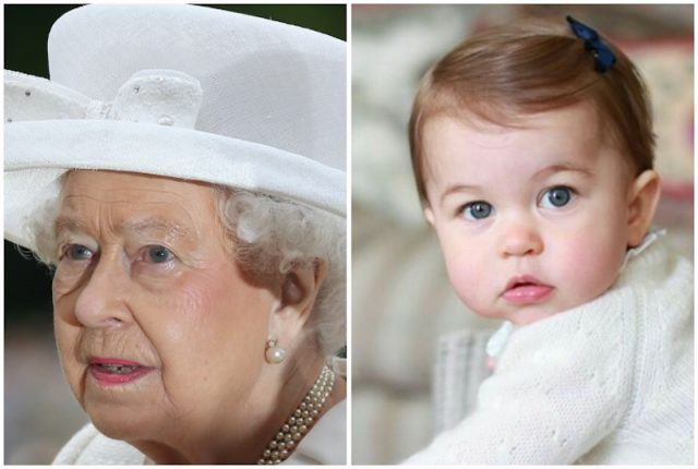 Queen Elizabeth and Princess Charlotte collage.