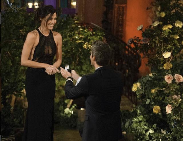 Rebecca Kufrin during the proposal.