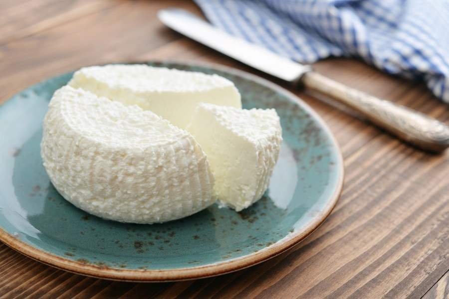 Ricotta Cheese in plate