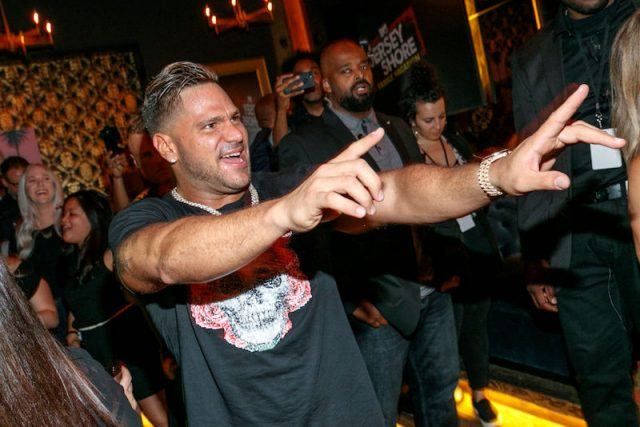Ronnie Ortiz-Magro celebrating at an event.