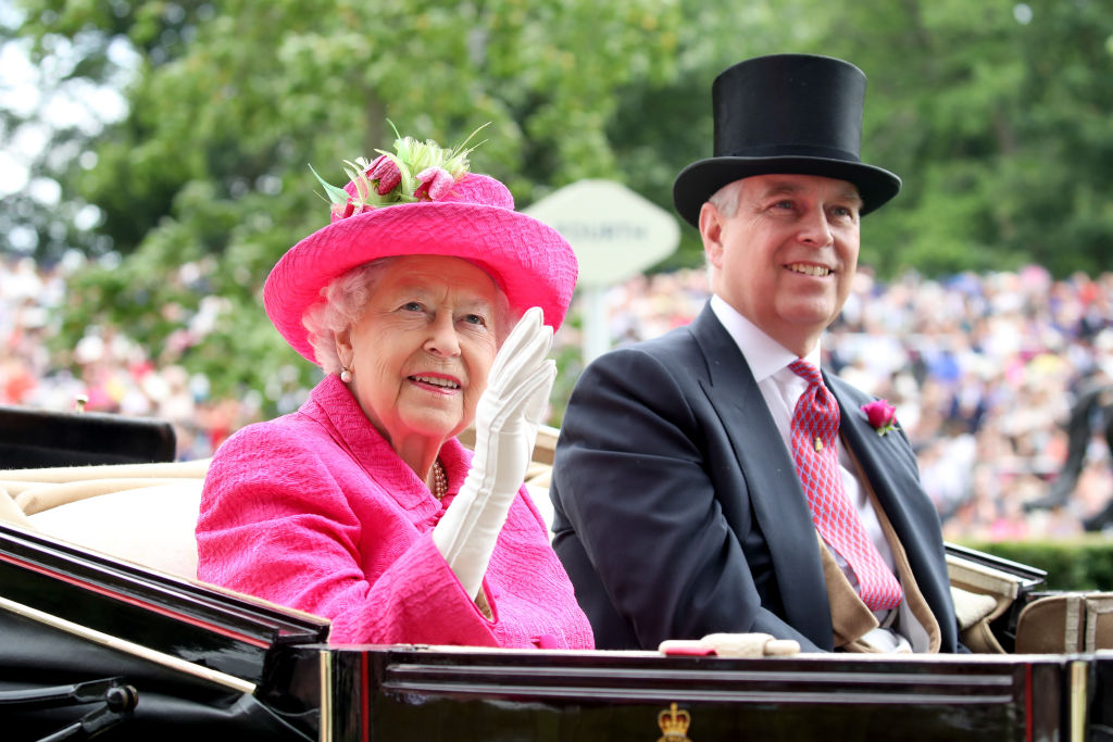 Queen Elizabeth II and Prince Andrew, Duke of York attend Royal Ascot