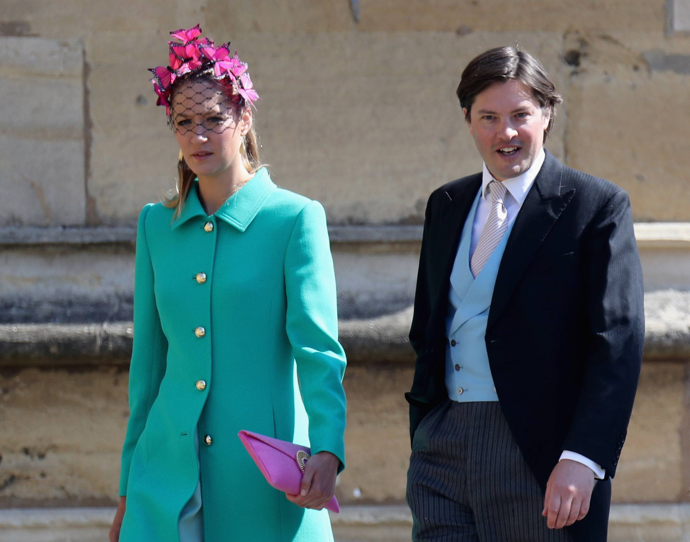 Guest with fascinator at the royal wedding Harry and Meghan